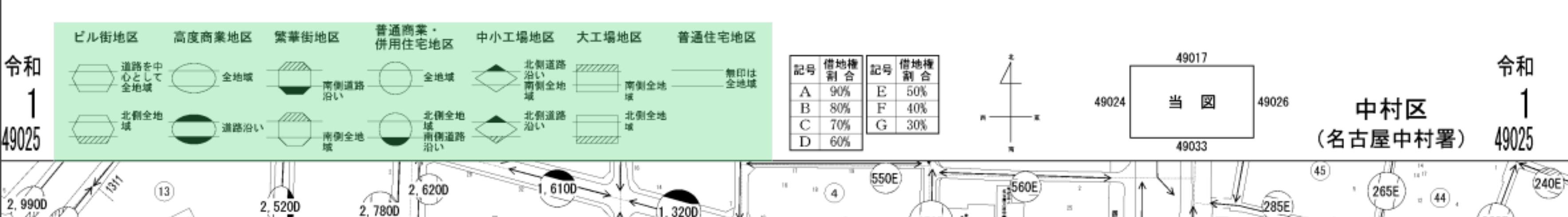路線価図でチェックするポイント3