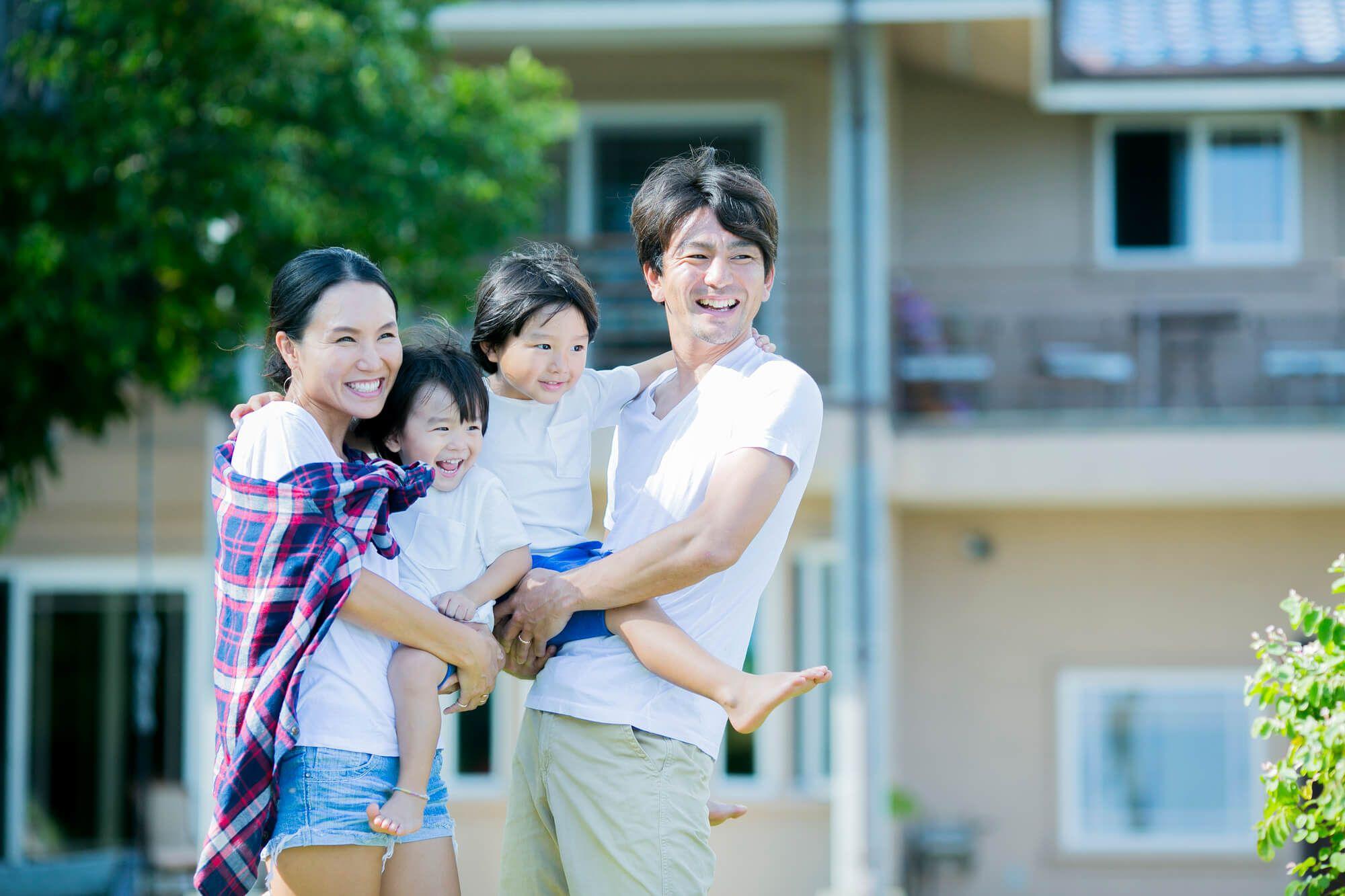 幸せな家族の様子